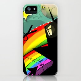 Rainbow Cut iPhone Case
