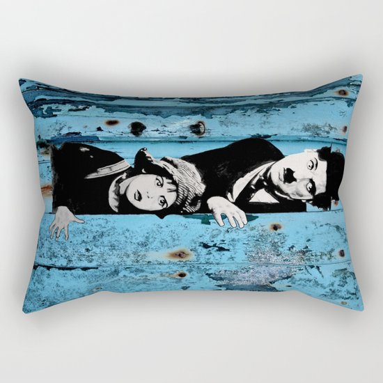 Chaplin and the kid - Urban ART Rectangular Pillow