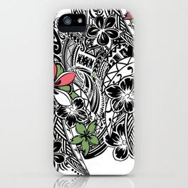 Polynesian Flora Touch Of Color iPhone Case