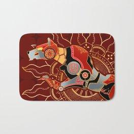 Red Lion Batik Bath Mat