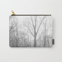 Black and White Forest Illustration Carry-All Pouch