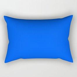 Tropical Blue Solid Color Rectangular Pillow