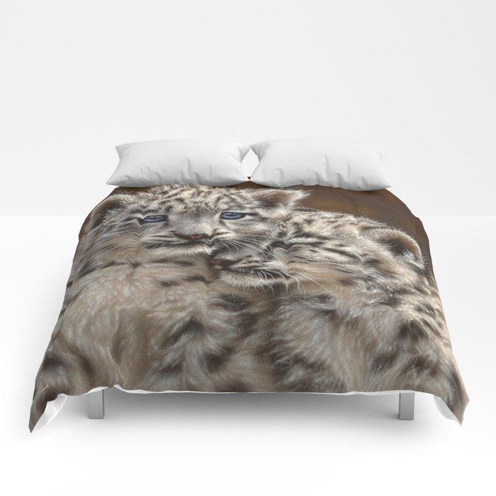 Snow Leopard Cubs - Playmates Comforters
