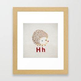 H Hedgehog Framed Art Print