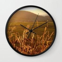 Gold Warm Light - JUSTART © Wall Clock