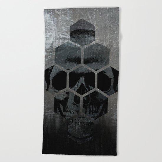 Skull texture Beach Towel