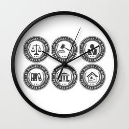 Working Hard To Become A Successful Lawyer Wall Clock