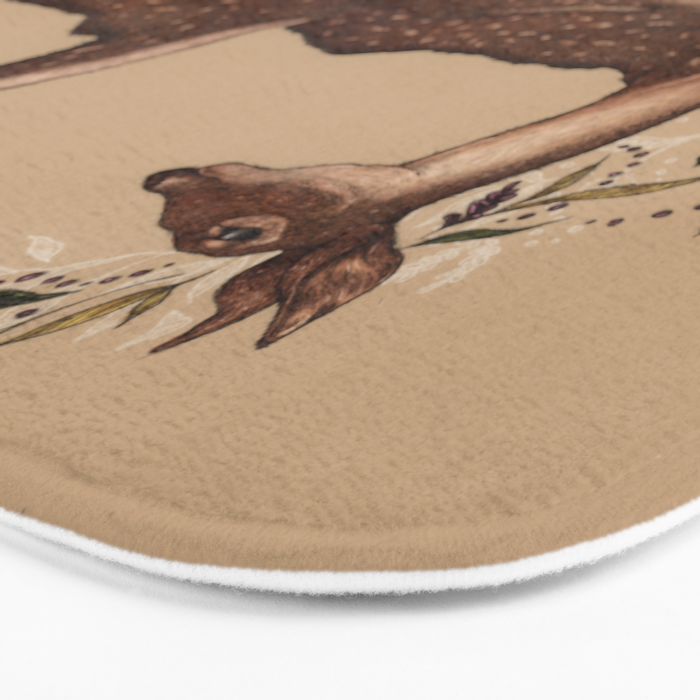 Jumping Deer Bath Mat
