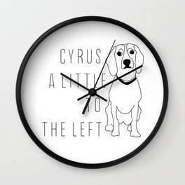 Cyrus, A Little To The Left Wall Clock