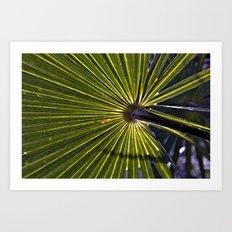 Green Palm Poetry Art Print