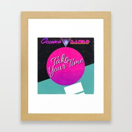 Take Your Time (album design) Framed Art Print