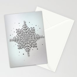 snow crystal Papercut Stationery Cards