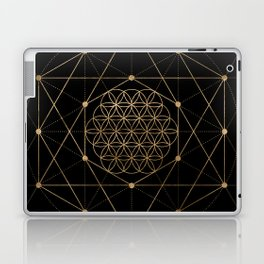 Flower of Life Black and Gold Laptop & iPad Skin
