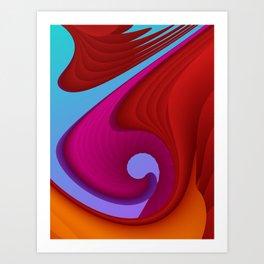 fluid -13- Art Print