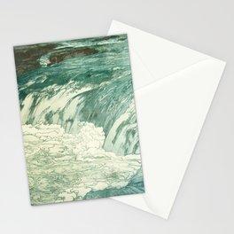 Hiroshi Yoshida - Rapids  - Japanese Vintage Ukiyo-e Woodblock Painting Stationery Cards