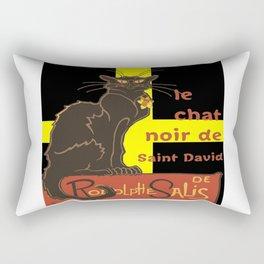 Le Chat Noir De Saint David De Rodolphe Salis Rectangular Pillow
