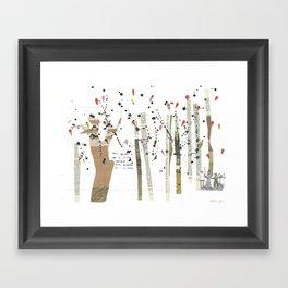 the last forest Framed Art Print