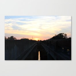 between bridges Canvas Print