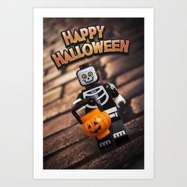Happy Halloween, Trick or Treat - LEGO Art Print