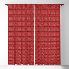 Guitars (Tiny Repeating Pattern on Red) Blackout Curtain