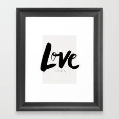Love is a Beautiful Chaos Framed Art Print