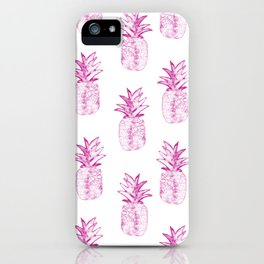 Pink Power Pineapple iPhone Case