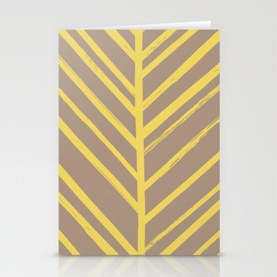 Painted Herringbone - in Marigold Stationery Cards