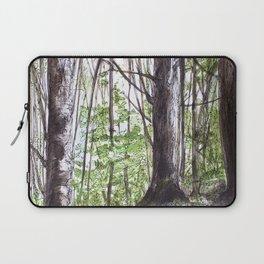 Woodland Trees in Vermont Illustration Nature Art Laptop Sleeve
