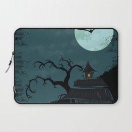 Halloween Spooky Scary House Moon Bats Tree Night Laptop Sleeve