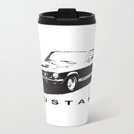 Mustang Design Metal Travel Mug
