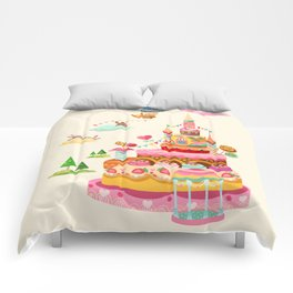 Ice Cream Castles In The Air Comforters