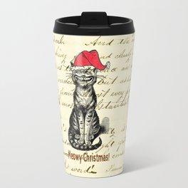 Meowy Christmas Holiday Kitty Travel Mug