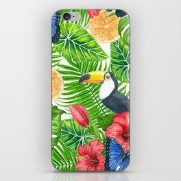 Tropical pattern iPhone Skin