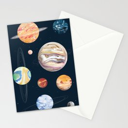 Marbly Warbly Planets Stationery Cards