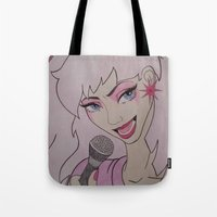 jem Tote Bags featuring Jem and the Holograms  by DustyRoseArt