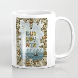 Dubrovnik Croatia - digital illustration Coffee Mug