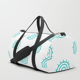 Aqua Spiral Abstract Pattern Duffle Bag
