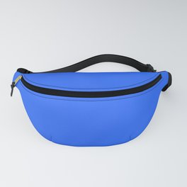 Ultra Marine Blue Solid Color Block Fanny Pack
