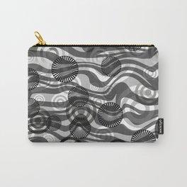 Zebra Stripes spiral design grey Carry-All Pouch