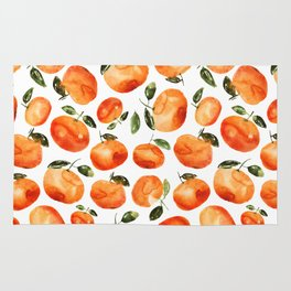 Watercolor tangerines Rug