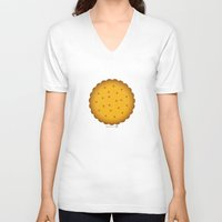 cookie V-neck T-shirts featuring Cookie. by #pavel_petrov_art2