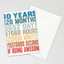 10th Birthday boy grandson poem funny gift Stationery Cards