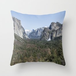 Tunnel View of Yosemite During Spring Throw Pillow
