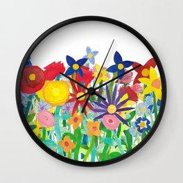 Flowery Bouquet Wall Clock
