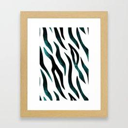Here Kitty Kitty - Teal Framed Art Print