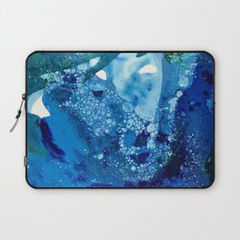 Environmental Blue Leaves, Tiny World Collection Laptop Sleeve