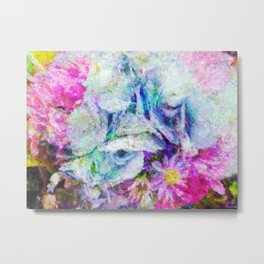 Hydrangea Bouquet Impressionist Painting Metal Print