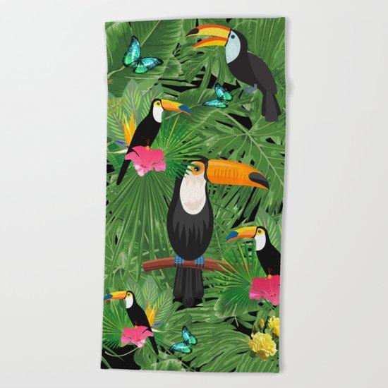 Toucan tropic  Beach Towel