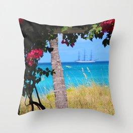 Turks & Caicos Sailboat Throw Pillow