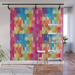 Rainbow Geodes Pattern Wall Mural